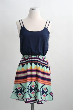 Mayan Mahem Dress- Navy Want it.!