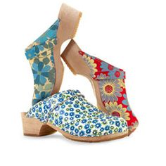 Cape Clogs Printed Clogs. Incredibly comfortable. More than 40 styles.  capeclogs.com. Starting at $50 per pair.