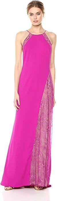 Badgley Mischka Women's EG2393, Magenta, 2: Clothing Contemporary Dresses, Badgley Mischka, Magenta, Formal, Long Sleeve, Clothing, Design, Fashion, Preppy