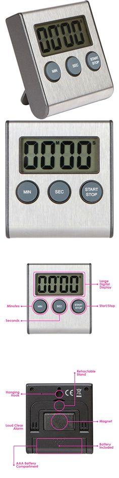 Timers 98852: B2b Professional Stainless Steel Digital Kitchen Timer, Cooking Food, Magnetic B -> BUY IT NOW ONLY: $30.84 on eBay!