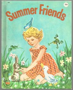 Vintage-Childrens-Wonder-Book-SUMMER-FRIENDS