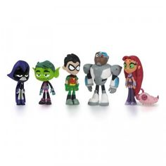 These mini action figures are collectible and let fans 4+ play out adventures from Teen Titans Go!