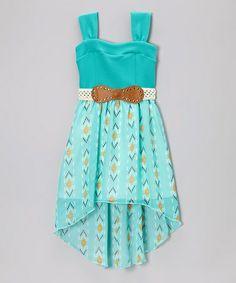 Another great find on #zulily! Mint Western Belted Dress - Girls #zulilyfinds