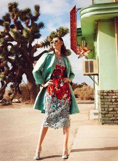 Retro Roadside Motel Editorials - The Rachel Alexander Grazia Germany Shoot is '60s-Inspired (GALLERY)