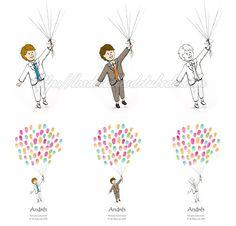 Blog de los detalles de tu boda   Árboles de huellas para comunión   http://losdetallesdetuboda.com/blog