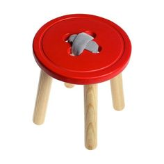 Button Stool by Floor 4 Projects ~ cute for craft room, sewing room, or child's room! Sewing Rooms, Button Crafts, Nursery Inspiration, Kids Furniture, Kids Playing, Wood Projects, Cool Designs, Kids Room, Woodworking