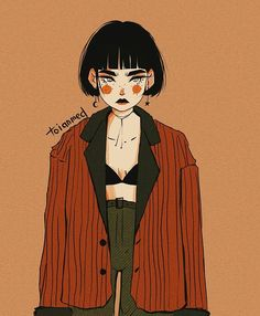 Anime Wallpaper Creepy- W Anime Wallpapers Thread 1992857 Cartoon Kunst, Cartoon Art, Pretty Art, Cute Art, Art And Illustration, Illustrations, Art Sketches, Art Drawings, Art Hoe