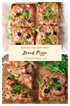 Bread pizza sandwich baked in the oven for the extra crunchy texture and to get that stringyness in the cheese is a perfect mid-meal snack. Pizza Sandwich, Sandwich Spread, Bread Pizza, Sliced Tomato, Grated Cheese, Easy Bread, Bread Baking, Coriander