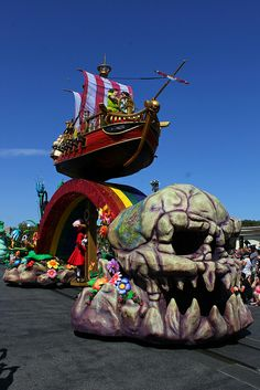 Peter Pan float in the Festival of Fantasy Parade debut at Walt Disney World