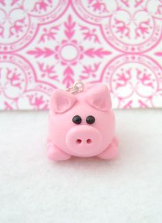 Little Pink Pig Ornament Polymer Clay by Emariecreations on Etsy, $6.75