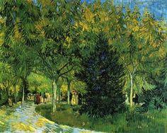 Paseo en el parque de Arles, 1888.