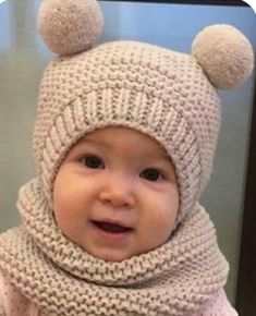 Baby Hat Knitting Pattern, Baby Hats Knitting, Knitting For Kids, Easy Knitting, Knitting Toys, Crochet Beanie, Crochet Baby, Crochet Jacket, Crochet Gifts