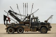 The War Rig from 'Mad Max: Fury Road' - Photos - Mad Max cars: The post-apocalyptic rides of 'Mad Max: Fury Road' - NY Daily News Mad Max Fury Road, Rat Fink, Tow Truck, Big Trucks, Ford F250, Chase Movie, Car Dump, Hot Wheels, Imperator Furiosa