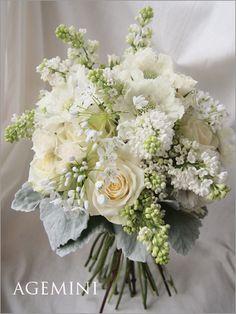 ローズとライラックのクラッチブーケ Wedding bouquet -AGEMINI