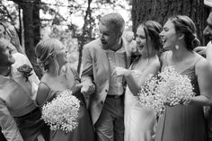 """Ben and Bree's #Intimate #Wedding in the #Woods by Katie Graham Photography. //  Ben and Bree were married in the woods for their intimate summer wedding. A #lakeside ceremony and #candlelit #reception set the scene while they celebrated with their closest family and friends. Their first dance song was """"Forever"""" by Mumford and Sons, which is from a concert that Ben surprised Bree with tickets for when they first started dating. Wedding Reception Decorations, Wedding Ideas, Groomsmen Fashion, Wedding Day Timeline, First Dance Songs, Mumford, Wedding In The Woods, Boho Wedding Dress, Graham"""