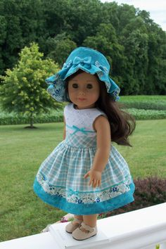 American Girl Doll Clothes -1950's  Dress & Hat - Welcome, Maryellen!