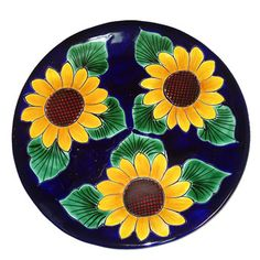 Talavera Sunflower Plate. Kitchen new house.