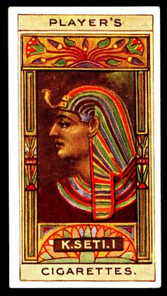Cigarette Card - King Seti I | Flickr - Photo Sharing!