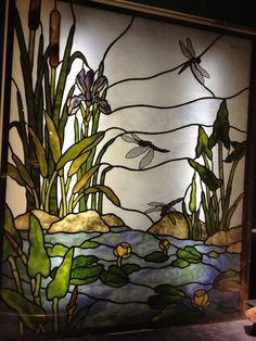 dragonfly stained glass panel #StainedGlassDragonfly