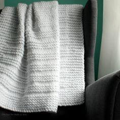 "Fifty Four Ten Studio: ""Where the Sidewalk Ends"" - Easy Blanket Knitting Pattern"