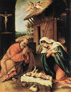 The Nativity by Lorenzo Lotto
