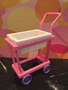 1995 BARBIE So Much To Do POST OFFICE store Mail Cart Only  1:6 scale