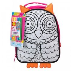 Color An Owl Lunch Bag from Alex Toys