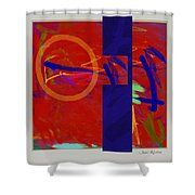 Curve Curve Curve 9 Shower Curtain by Janis Kirstein