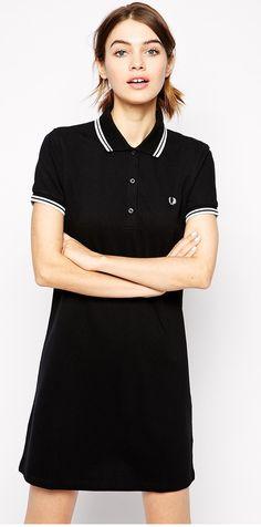 7881baabf64fe Fred Perry Twin Tipped Dress - Tennis Bowling Dress - D3600 - Black - UK 10