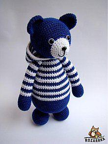 Hračky - návod na háčkovaného medvedíka (cca 27cm) - 3884997_
