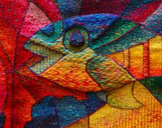 Hand woven sea tapestries by Award Winning Peruvian textile artist Maximo Laura, whose tapestries are a symbiosis of Peruvian tradition and contemporary aesthetics.