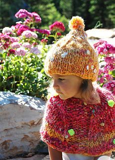Clouds Rest Pixie is a quick to knit hat worked in the round from the brim up. The capelet / poncho pictured with the hat is Clouds Rest Capelet. Easy Knit Hat, Knitted Hats, Chunky Yarn, Chunky Knits, Knit Crochet, Crochet Hats, Fedora Hat Women, Knitting Accessories, Kids Hats