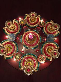 30 Creative Rangoli Designs For Diwali Decoration Diwali Craft, Diwali Rangoli, Indian Rangoli, Rangoli Patterns, Rangoli Ideas, Diwali Decorations, Festival Decorations, Handmade Decorations, Acrylic Rangoli