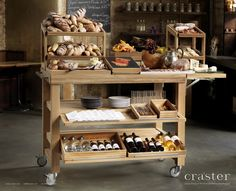 Craster enables hospitality brands to engage with their customers and create loyalty through the design and manufacture of intelligent, high quality products. Food Trolley, Outdoor Catering, Food Stall, Food Displays, Breakfast Buffet, Heating And Cooling, Kitchen Cart, First Home, Solid Wood