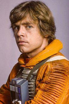Luke Skywalker promo shot in X-Wing pilot outfit.