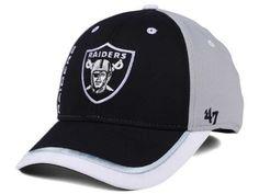 official photos ea272 ad0a1 Oakland Raiders  47 NFL  47 Crash Line Contender Flex Cap