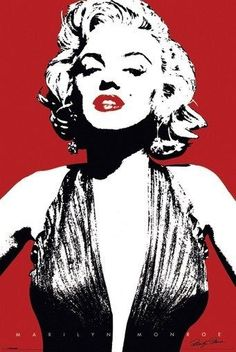 A red Marilyn Monroe poster in a classic 'Andy Warhol' pop art look. A great wall decoration for any Marilyn Monroe fan. Made by Black Ball Corp Pin Up, Andy Warhol, Pop Art Marilyn Monroe, Marilyn Monroe Stencil, Marilyn Monroe Painting, Marilyn Monroe Portrait, Photo D Art, Poster Prints, Art Prints