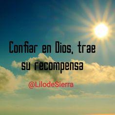 #Confianza #Dios nos hace vencedores en todas las circunstancias de la vida #LilodeSierra Movies, Movie Posters, Frases, Trust God, Christian Messages, Life, Films, Film Poster, Cinema
