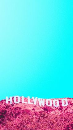 Photography / Minimalism / Colorful / Contrasting Collors / Cyan / Magenta / Hollywood Hills / Saturated / Pop
