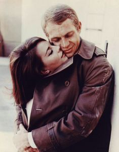 "steve mcqueen and natalie wood- My natlaie wanted to see the actress she was named after. She said ""wow she sure is beautiful"""