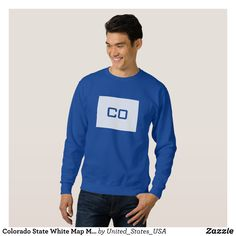Colorado State White Map Men's Sweatshirts - Outdoor Activity Long-Sleeve Sweatshirts By Talented Fashion & Graphic Designers - #sweatshirts #hoodies #mensfashion #apparel #shopping #bargain #sale #outfit #stylish #cool #graphicdesign #trendy #fashion #design #fashiondesign #designer #fashiondesigner #style