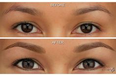 Before and After Photos of MicroArt Semi Permanent Makeup for Eyebrows & Eyeliner - an Alternative to Eyebrow Tattooing and Permanent Cosmetics Semi Permanent Eyeliner, Permanent Makeup Eyebrows, Eyebrow Makeup, Eyeline Makeup, Eye Brows, Eyeliner Tattoo, Makeup Tattoos, Eyebrow Tattoo, Tattooed Eyebrows