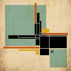 Abstract Expressionism, Abstract Art, Mondrian Art, Modern Quilt Blocks, Sala Grande, Architecture Collage, Geometry Art, Ink Painting, Digital Collage