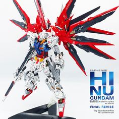 Custom Build: MG 1/100 RX-93-v2 [mms] - Hi Nu Gundam Multi Strike System FINAL REVISE - Gundam Kits Collection News and Reviews Gundam Custom Build, Gundam Wing, Mobile Suit, Finals, Geek Stuff, Anime, Model, Universe, Suits
