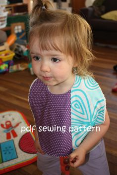 The adorable Supersize me bib pattern (and even more adorable model).