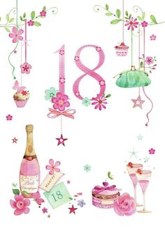 Ideas For Birthday Quotes Art Prints Happt Birthday, 18th Birthday Cards, Birthday Clipart, Birthday Messages, Special Birthday, Happy 18th Birthday Daughter, Happy 18th Birthday Quotes, Happy Birthday Girls, Happy Birthday Wishes
