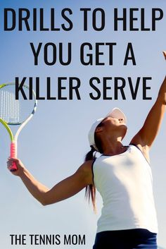 Try these tennis drills to improve your serve. By introducing these drills during your tennis practice you will help improve strength and accuracy when it comes to your serve. Source by tennismomtips bags essentials Tennis Games, Tennis Gear, Tennis Tips, Sport Tennis, Tennis Outfits, Tennis Serve, Tennis Match, How To Play Tennis, Tennis Funny