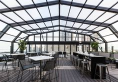 For an awesome rooftop and a farm-to-table food, check out ...