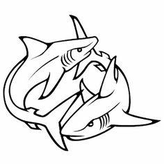 Shark tattoo stencil - Shark Free Tattoo Stencil - Free Shark Tattoo Designs For Men - Free Shark Tattoo Designs For Woman - Customized Shark Tattoos - Free Shark Tattoos - Free Printable Shark Tattoo Stencils - Free Printable Shark Tattoo Tribal Shark Tattoos, Animal Tattoos, Cool Tattoos For Guys, Trendy Tattoos, Tattoo Drawings, Body Art Tattoos, Pices Tattoo, Cowboy Tattoos, Shark Drawing