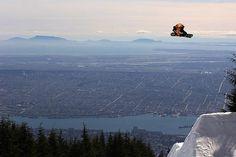 Snowboard, Vancouver, Canada.